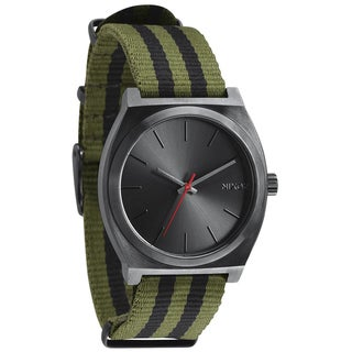 Nixon Men's Time Teller Surplus and Black Nylon Strap Watch