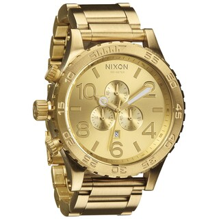 Nixon Men's 51-30 Chrono All Gold Watch
