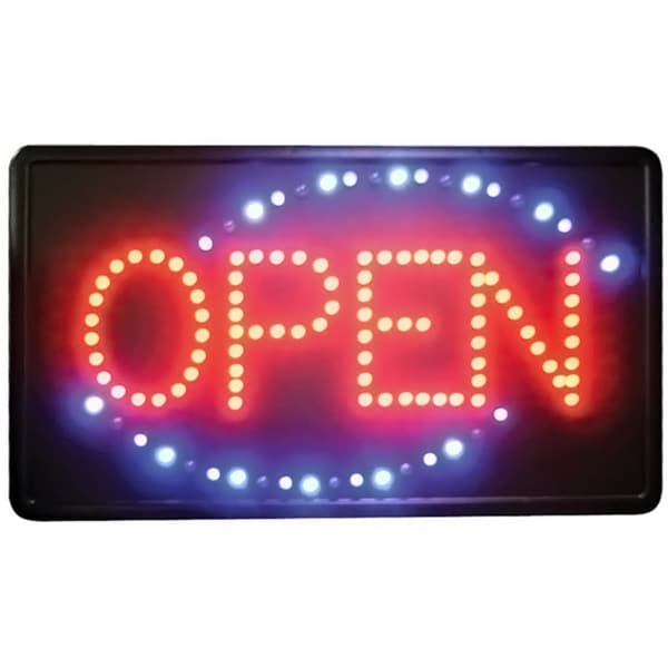 Winco 'Open' Flashing LED Sign