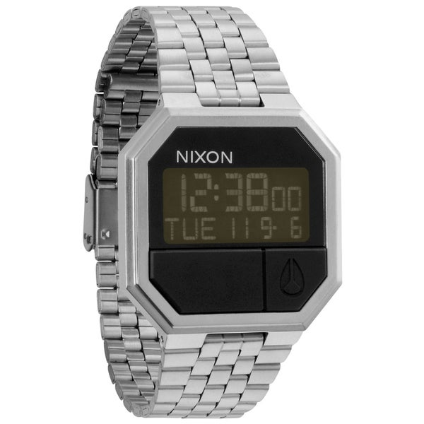 nixon s re run stainless steel digital
