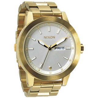 Nixon Men's Spur Gold Case Silver Dial Watch