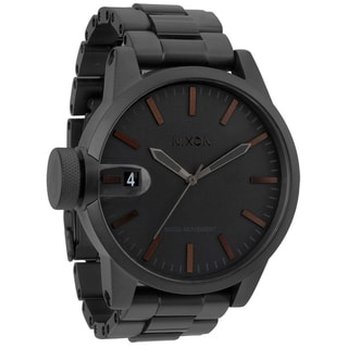 Nixon Men's Chronicle SS Matte Black and Dark Tortoise Watch