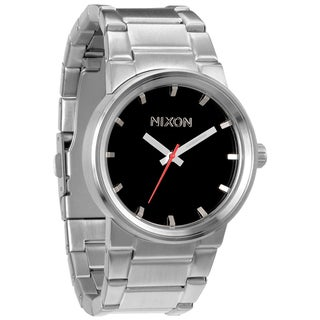 Nixon Men's Cannon Black Dial Stainless Steel Watch