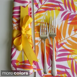 Tracy Sachs Palm Frond Cotton Napkins (Set of 4)
