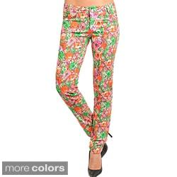 Stanzino Women's Floral Print Skinny Pants