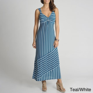 Amanda Charles Women's Striped Maxi Dress