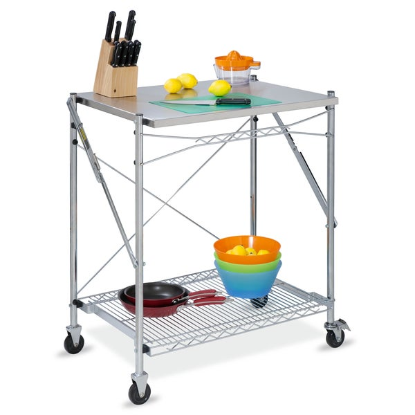 Folding Urban Stainless Steel Work Table