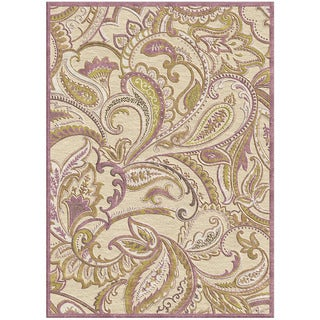Diamond 'Lana' Paisley Cream Rug (7'6 x 10'6)