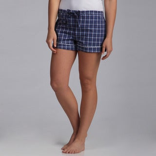 Jessica Simpson Women's 'Boyfriend PJ's' Plaid Shorts