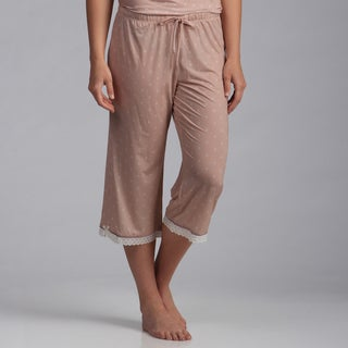 Jessica Simpson Women's 'Lulu' Rose Dust Crop Pajama Pants (S)