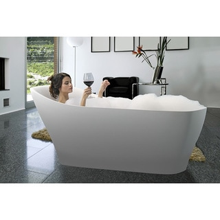 Aquatica Emma-Wht Freestanding AquaStone Bathtub