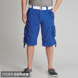 XRAY Jeans Men's Belted Cotton Cargo Shorts