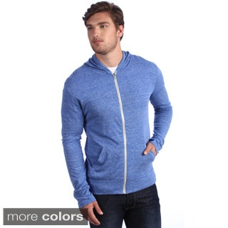 Alternative Apparel Men's Eco-Heather Zip Hooded Sweatshirt