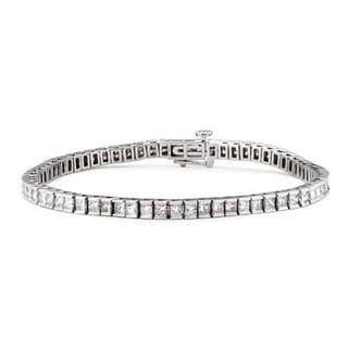 14k White Gold 7ct TDW Diamond 8-inch Tennis Bracelet (G-H, I1)