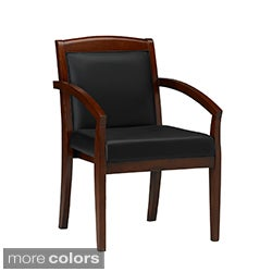 Mayline Mercado Leather/ Wood Guest Chairs (Set of 2)