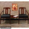 Mayline Mercado Leather/ Wood Ladder-back Guest Chairs (Set of 2)