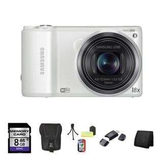 Samsung WB200F Smart 14.2MP White Digital Camera 8GB Bundle