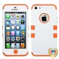 BasAcc Ivory White/ Orange Impact TUFF Hybrid Case for Apple iPhone 5