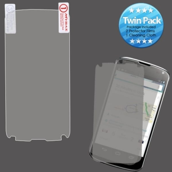INSTEN Clear Screen Protector Twin Pack for LG E960 Nexus 4