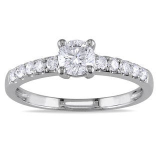 Miadora 14k White Gold 3/4ct TDW Diamond Solitaire Ring (G-H, SI1-SI2)