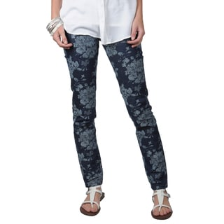 Journee Collection Juniors Floral Print Skinny Jeans