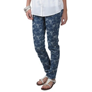 Journee Collection Juniors Camo Pattern Skinny Jeans
