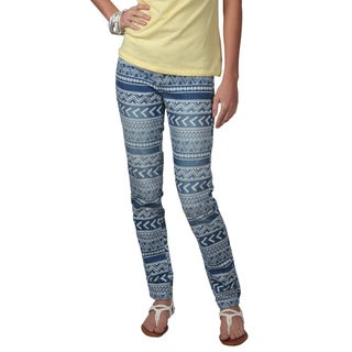 Journee Collection Juniors Geometric Print Skinny Jeans