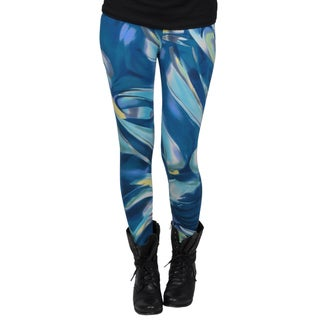 Journee Collection Juniors New Wave Print Ankle-length Leggings