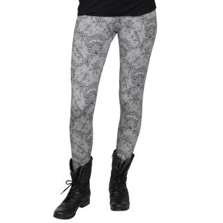 Journee Collection Juniors Floral Print Cotton Leggings