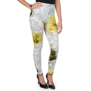 Journee Collection Juniors Watermark Floral Print Cotton Leggings