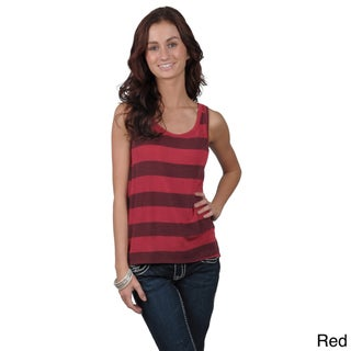 Journee Collection Juniors Striped Cropped Tank