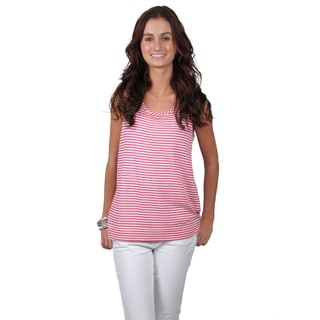 Journee Collection Juniors Hi-lo Striped Sleeveless Top