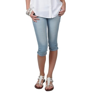 Hailey Jeans Co. Juniors Cotton/Spandex Stretch Skinny Capris