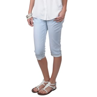 Hailey Jeans Co. Juniors Machine-Washable Stretch Skinny Capris
