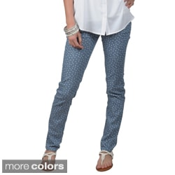 Hailey Jeans Co. Juniors Printed Stretch Skinny Pants