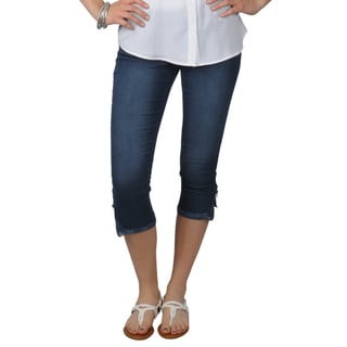 Journee Collection Juniors Zipper Detail Skinny Stretchy Capris