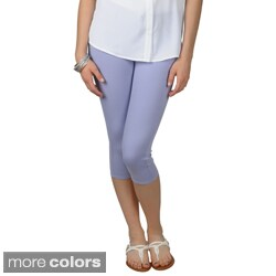 Journee Collection Juniors Machine-Washable Skinny Stretchy Capris