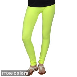Journee Collection Juniors Seamless Solid Color Neon Leggings