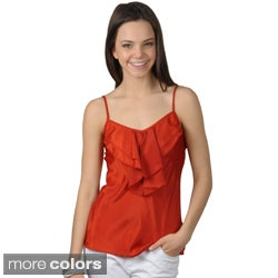 Journee Collection Juniors Lightweight Sleeveless Ruffled Top