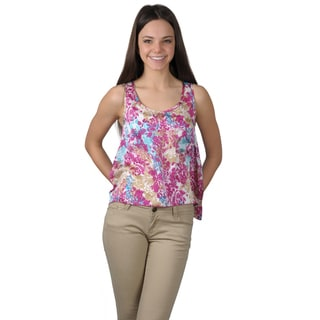 Journee Collection Junior's Hi-lo Sleeveless Top