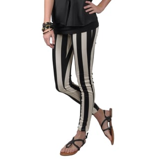 Journee Collection Women's Stretchy Striped Pants
