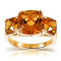 Annello 10K Yellow Gold 8 ctw Citrine Three-Stone Ring