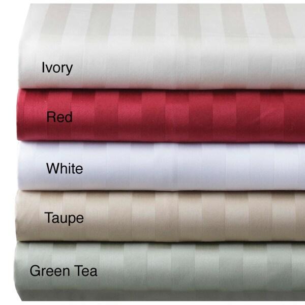 Damask Stripe 500 Thread Count Sheet Set