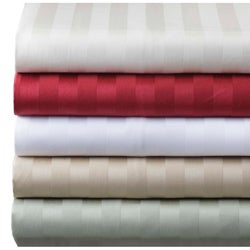 Damask Stripe 500 Thread Count Sheet Set
