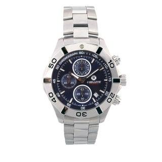 Bilette Men's Stainless Steel Navy Blue Dial Watch