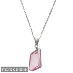 La Preciosa Sterling Silver Crystal Geometric Necklace Made with SWAROVSKI Elements