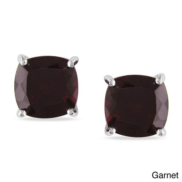 M by Miadora Sterling Silver Birthstone Earrings