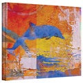 Greg Simanson 'Dolphin' Gallery-Wrapped Canvas