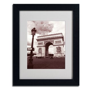 Kathy Yates 'Arc de Triomphe' Framed Mattted Photography Art