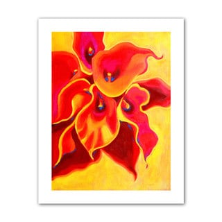 Susi Franco 'Red Calla Shadow' Unwrapped Canvas